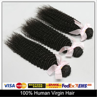 Cheap Cheap Shiny Hair!Kinky Curly Brazilian Peruvian Malaysian Indian Virgin Hair Extensions Unprocessed Human Hair Weave Wefts 4Pcs 6A