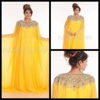 Cheap 2015 New Arrivals Elegant Dubai Kaftan Dress Floor Length Arabic Evening Dress With Long Sleeve Custom Made Abaya In Dubai