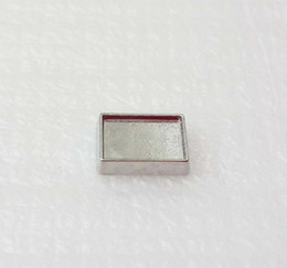 6x9mm inner 7x10mm outside diameter Silver Blank Floating Charms for Lockets DIY rectangle photo Charms for making jewelry