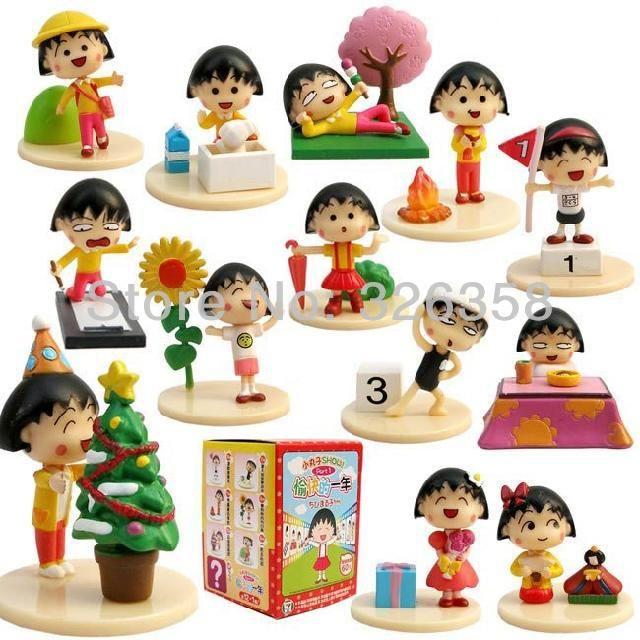Japanese Anime Cartoon Chibi Maruko Chan Happy Days Pvc