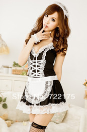 Wholesale 2014 HS226 Price Cute beautiful black and white cross maid uniforms factory sexy lingerie manufacturers