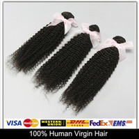 Cheap Promotion!4Pcs Brazilian Malaysian Peruvian Indian Virgin Hair Kinky Curly 6A Natural Color Can Be Dyed And Bleached Free DHL