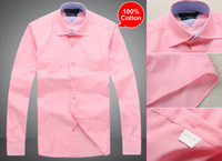 Wholesale 2014 New Arrival Mens Long Sleeve Cotton dress shirts men s Suit Shirt Business Shirts Style