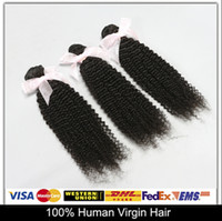Cheap Clearance Sale!4Pcs Brazilian Malaysian Peruvian Indian Virgin Hair Kinky Curly 6A Natural Color Can Be Dyed And Bleached Free DHL