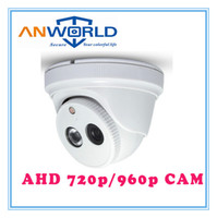 Wholesale AHD camera P Megapixel OV9712 CMOS camera m IR distance fixed mm mm lens array LED white color hikvision plastic Dome camera