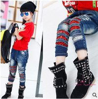 bur - Sequins Bur Latest Girls Autumn Denim Pants Korean Style Zipper Haren Fashion High Quality Princess Denim Pants