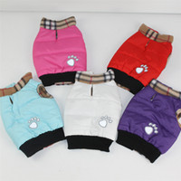 Wholesale Dog Clothes Pet Apparel Large Dog Clothing Suit Winter Warm Coat Size XS M XL Colors