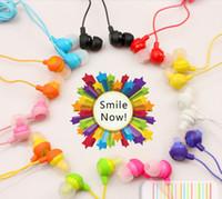 Wholesale Lose Money Promotion Colors To Choose Fruit Smile Earphone In Ear Headphones Headphones Earphones