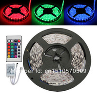 Wholesale led strip set Non waterproof M leds m RGB SMD LED Strip Key IR remote controller