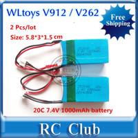 Wholesale 2 Pieces V mAh battery for WLtoys V912 WLtoys V262 WLtoys V353 battery WLtoys Parts