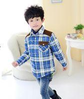 Wholesale Han edition children down jacket feather coat boy s big squares
