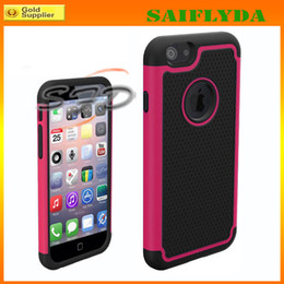 New 2 in 1 Hybird Shockproof PC Plastic Hard TPU Silicone rubber soft football Case For iphone 6 4.7""