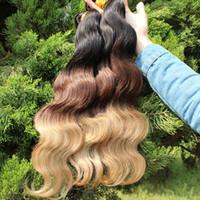 Cheap Brazilian Hair ombre hair extensions Best Body Wave 14