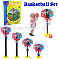 Cheap 2014 Indoor Outdoor Four Section Height Adjustment Children Basketball Sport Set Game Toy Child Fitness Toys Basketball Stands