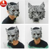 horror masks - On Sale Halloween Mask Grey Wolf Mask Masquerade Mask Animal Head Horror Mask carnival mardi gras costume