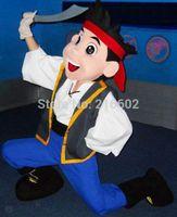 al por mayor pirata mascota-Traje adulto de la traje de la mascota de Jake del envío libre / Jake y los piratas de Neverland