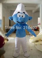 Acheter Costume de mascotte de commande-Meilleur Vente Blue Spirit adulte costume de mascotte Taille: S M L XL XXL afin Bienvenue