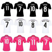 Soccer football shirt - Whosales Madrid Jersey Football Jerseys football Shirt Cristiano Ronaldo Bale James Kroos Soccer Jerseys A Thai Quality