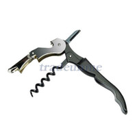 Wholesale Wine Bottle Cap Opener Corkscrew Stainless Steel Metal With Plastic Handle
