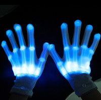 wholesale novelty items - LED lighting gloves flashing cosplay novelty glove led light toy item for Halloween Party