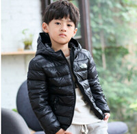 Wholesale The new children down coat foreign boy hooded down jacket