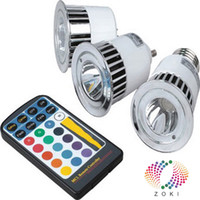 Spotlight led rgb remote bulb 5w - RGB LED Bulb Light RGB LED Spotlight W W GU10 E27 RGB Remote Conroller Color Change Lamp Warranty Years
