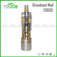 Cheap Dreadnaut Mod 2014 newest 26650 mod Clone Huge Vapor Mechanical Dreadnaut Mod clone electronic cigarette vaporizer cigarette free shipping