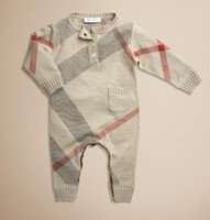 Unisex Spring / Autumn 100% Cotton New Arrivals Baby one-piece Sweater Romper Brand children Long Sleeve Rompers baby comfortable 100% cotton Warm jumpers
