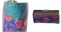 Cheap 5pie Purple desigual Clutch ladies purse multi Card5piece Wallet Handbag PU twill printing embroidery Free postage