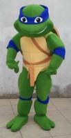 expédition taille adulte de haute qualité Teenage Mutant Ninja Tortue Mascot Adult Costume Character Mascot Costume gratuit du ventilateur monté sur la tête