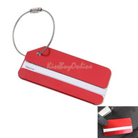 Wholesale Aluminum Alloy Luggage Tag Baggage Tag Handbag Tag Red K5BO
