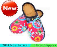 Cheap Wholesale-2014 New Neoprene Family Home Slipper Warm Winter Slippers Indoor Household Slippers Comfortable Flat Shoes Slipper For Women
