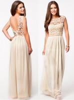 plus size summer dress - 2015 Women Sleeveless Crochet Sexy Chiffon Party Dress Plus Size Summer Dresses Lace Embroidery Maxi Dresses Long