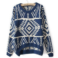 Wholesale Hot Sale New Women s Autumn Winter Knitted Sweater Loose Pullover Casual colors New Arrival Outwear Geometri long sleeve Sweaters