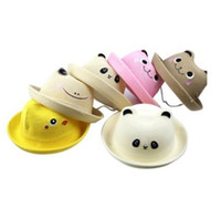Wholesale Bear Frog Animal Children Hat Fashion Boys Fedoras Girl s Sun Hat Straw Top Quality Cheapest
