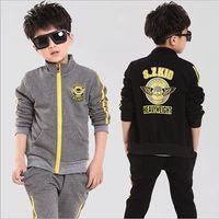 Wholesale Retail Children Sportswear sport set jogging jacket pant for boys tracksuits shampooers clothes spring autumn suit