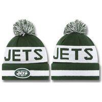 Wholesale Newborn Team Beanies Jets Caps White Green Sports Beanies Cheap Outdoor Hats Fashion Winter Ski Beanies Mens Womens Casual Beanie Caps Hats