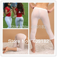 Cheap Hot Fashion Sexy Men & Women Semi See-through Seamless Tights Shorts Pants Trousers NZ23+free shipping