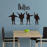 Wholesale 2015 Home Garden Christmas gift NEW THE BEATLES Band Music Wall Sticker Sitting Living Bed Room Decoration Home Decor g