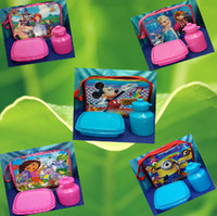 Wholesale 9 off styles Cartoon Sofia lunch bag lunchbox kettle Children s tableware package DROP SHIPPING HOT SALE MC