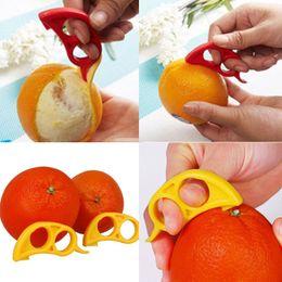 Wholesale 60pcs Novelty Orange Peelers Slicer Lemon Lime Tangerine Grapefruit Remover Kitchen Tool Gadget Drop Free Ship