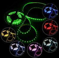Wholesale Flexible RGB Multi color Led strip light DC V LEDs W M Non Waterproof SMD led Light Strip M roll Free DHL