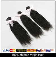 Cheap Faster Free DHL!Peruvian Virgin Hair Kinky Curly 100% Human Hair Weave Hair Extensions 5pcs lot 6A Natural Color Can Be Dyed And Bleached