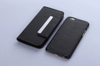 Cheap 2 in 1 One Flip Wallet Book Leather & Detachable case Litchi skin cover Credit card back cases For Iphone 6 6G Plus Iphone6 20pcs 30pcs