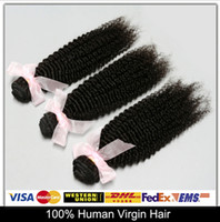 Cheap Cheap And Fine!Peruvian Virgin Hair Kinky Curly 100% Human Hair Weave Hair Extensions 5pcs lot 6A Natural Color Can Be Dyed And Bleached