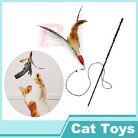 Wholesale Cats Must Handmade Natural Pearl Bird Feathers Funny Cat Stick Interactive Cat Toy Funny Cat Tools RL28