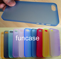 pp plastic case - New mm Ultra Thin Slim Matte Frosted Transparent Clear Soft PP Cover Case Skin for iPhone S G MOQ