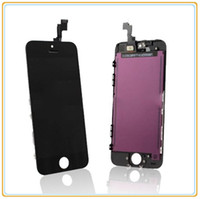 Cheap High Quality Black And White LCD Touch Screen Digitizer Glass Assembly Replacement Touch Panels For iPhone 5S Free Shipping.