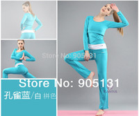 organic yoga wear - Organic Bamboo Fabric Sports Clothes Soft Comfortable Yoga Wear Set Blue Color S M XL XL Size