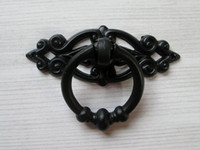 Wholesale Black Shabby Chic Dresser Drawer Pulls Knobs Handles Drop Ring Cabinet Knobs Handle Pull Knob Antique Furniture Decorative